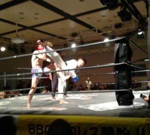 キックボクシングの試合が決まりました!