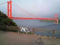 朝日と平戸大橋