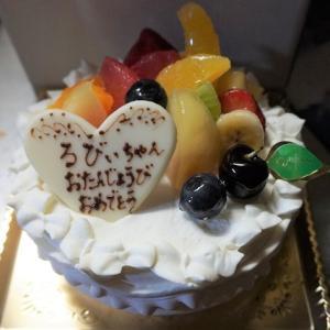忘れてた るびぃ3歳の誕生日^^;;