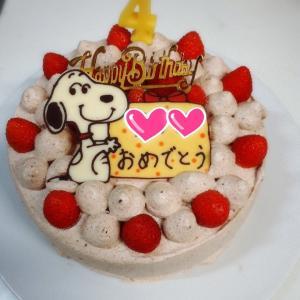 先月の次女の誕生日ケーキ
