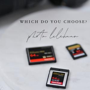 CFカード?XQDカード?記録メディア、何使ったらいいですか?