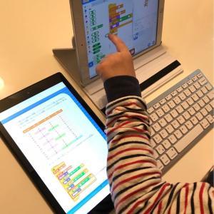 iPadでScratchも始めました