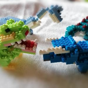 恐竜ブロックかわいい♡今時の百均色々あるね