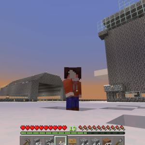 フレンドさんちで格納庫と管制塔を設置してきました?!(*´▽`*)(Minecraft , Xbox One)