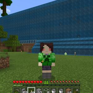 滝の流れる建物作ったりパンダさんと戯れたり?!(*´▽`*)(Minecraft , Xbox One)