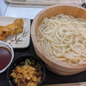今日も 丸亀製麺〜釜揚げ半額です♫