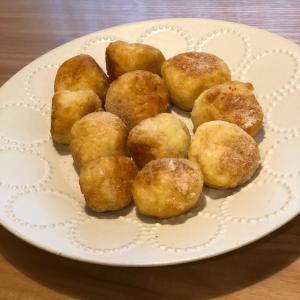 お菓子作りday♡お餅でドーナツ作り