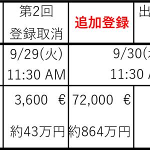 2020年凱旋門賞(仏G1)の1週前出走予定馬等の状況と登録日程