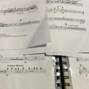 久しぶりの楽団練習