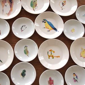 TORINKOトリンコの食器たち(鳥・オウム・インコ)