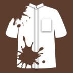 白い麻のシャツ