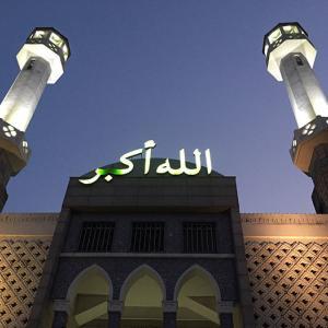 梨泰院のイスラム寺院と三日月と