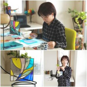 グラスアート体験教室の作品達