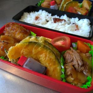 鶏手羽の甘辛焼き弁当~猛暑