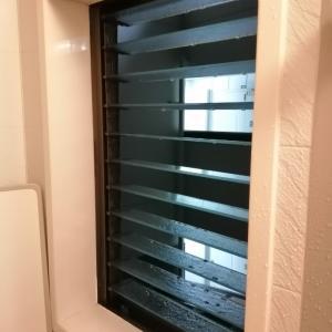 お風呂の窓掃除