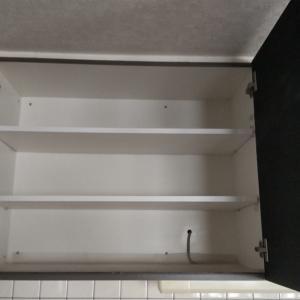 キッチン吊り棚の掃除