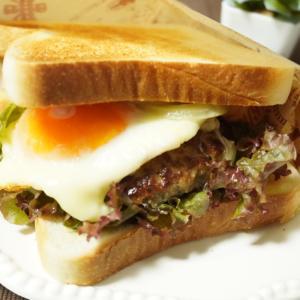 *コンビニ製品で♪簡単ハンバーガー風サンドイッチ*