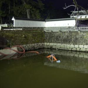 *小田原城のお堀の水が38年ぶりに抜かれた* 今日の夜7時54分から放送!
