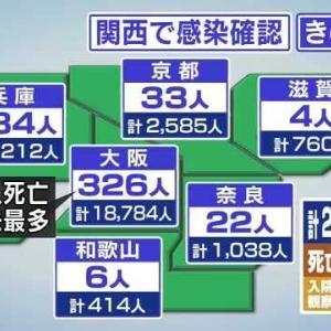 新型コロナ全国29名の死者のうち、大阪の死者過去最悪の12名。維新が医療崩壊させ、イソジン吉村府知事と雨がっぱ松井市長が強行した住民投票が今、大阪市民を殺し始めた。吉村・松井両氏は即時辞任せよ。