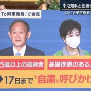 菅総理・小池都知事の合意「65歳以上+基礎疾患」Go toトラベル発着「自粛」だけでは感染爆発は防げない。