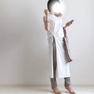 白の分量に頼る大人のカジュアル/夏の制服的UNIQLO