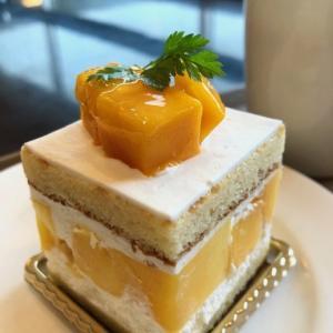 マンゴーのショートケーキ  カフェ ベル