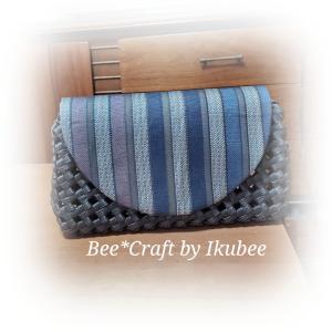 和布で石畳編みポシェット♪