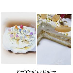 手作りケーキでお祝い♪
