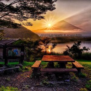 田貫湖の日ノ出