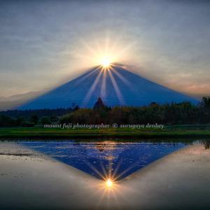 2021 6/9 田んぼでダイヤモンド富士