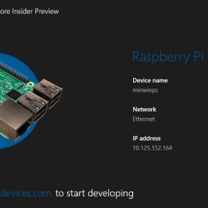 Windows 10 for Raspberry Pi 2 インストールしてみた