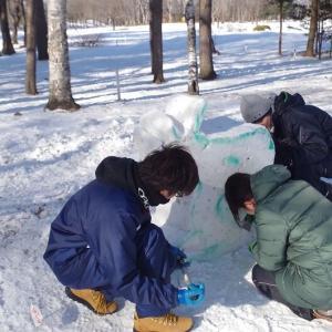 第57回おびひろ氷祭り 雪像製作