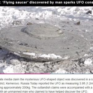 【UFO】ロシアの炭鉱から「円盤」の形をした「謎の物体」が掘り起こされ話題に!