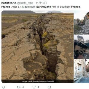 11日に発生したフランス南部での「M5.4」の大地震…震源地に原発があり、住民らの間に不安の声