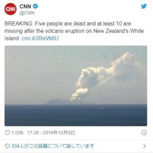 【法則】ニュージーランドのホワイト島の火山が噴火!
