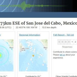 メキシコ沿岸で「M6.1」の地震発生!