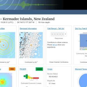 【巨大地震】ニュージーランド沖で、3度目の大地震が発生「M8.1」津波に注意