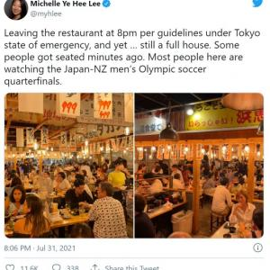 【画像あり】全く自粛していない日本の都内居酒屋の実態が外国人記者にバレてしまい「クレイジー」と言われてしまう...
