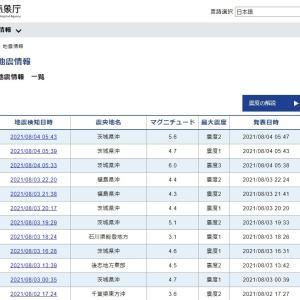 【前触れ】茨城県沖震源で「5時33分 M6.0」「5時39分 M4.7」「5時43分 M5.6」の地震発生…昨日から茨城県沖で地震が増加中
