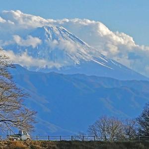 冬の富士山望遠