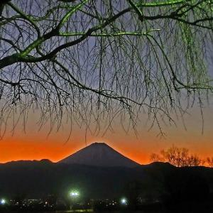日没と富士山
