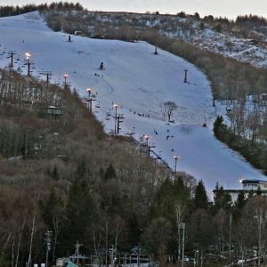 スキー場夕景