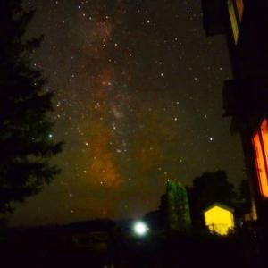 夏。帯広八千代の夜空、星
