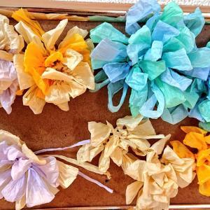 ペーパーヤーンでお花を編んだ話