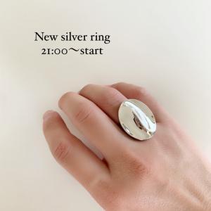 21時〜silver925リングやイヤーカフなど!新商品販売です!