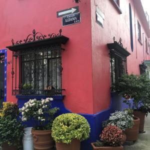 赤の似合う町・メキシコシティ
