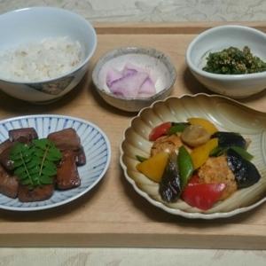 シニア夫婦の晩ご飯   鮪の角煮
