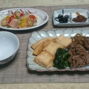シニア夫婦の晩ご飯  肉豆腐