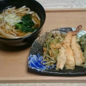 天ぷらを揚げてお家ランチ
