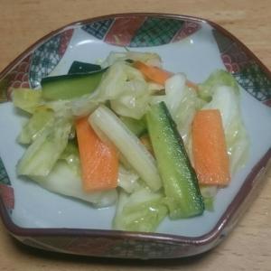 野菜の甘酢漬け(レシピ)加えました